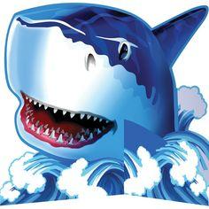 Shark Splash Standup Centerpiece Diecut/Case of 6