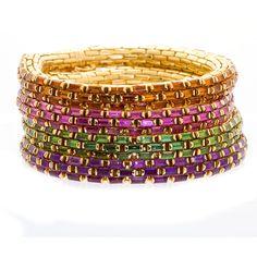 Multi-Gem Link Bracelet Set from TMW Jewels <3