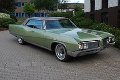 '68 Buick Electra 225: the family car when I learned to drive; this big but light blue not green.  As a result I can drive anything!