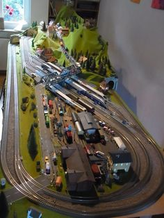 For some people, collecting toy trains isn't just another hobby or interest; The concept of collecting toy trains has been Model Trains Ho Scale, N Scale Trains, Lego Trains, N Scale Train Layout, Ho Train Layouts, Neustadt In Holstein, Train Ho, Escala Ho, Model Railway Track Plans
