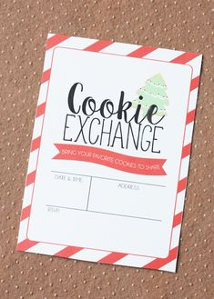 Cookie Exchange Invitation | Cookie Exchange Party Ideas Christmas Candy Gifts, Christmas Party Themes, Christmas Cookies, Christmas Printables, Christmas Baking, Wedding Invitation Text, Invitation Wording, Business Invitation, Invitation Ideas