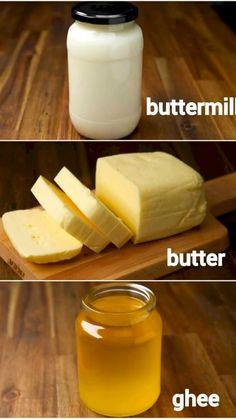 How To Make Butter Recipe, Recipe Ghee, Hp Sauce, Simply Yummy, Buttermilk Recipes, Indian Dessert Recipes, Instant Recipes, Homemade Butter, Easy Cake Recipes