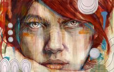 Connecticut-based artist Michael Shapcott creates wonderfully colored portraits by starting with graphite underdrawings that are then painted with washes in oil and acrylic.