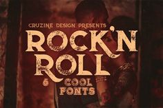 Rock'n Roll Typeface by Cruzine on @creativemarket