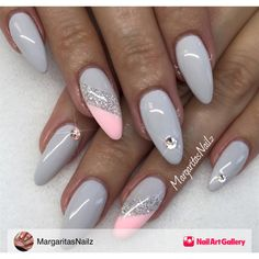 Grey Nails by MargaritasNailz via Nail Art Gallery #nailartgallery #nailart…