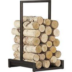 Alton Bronze Log Holder in Log Holders | Crate and Barrel