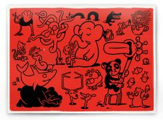 PettingZoo Red, Edition of 30, signed and numbered 2 color silkscreen, Paper: Munken Pure 170g/m2 Size: 52cm x 72cm / 21 in x 28 in US$ 150 / €100