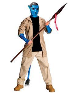 """Avatar Jack Sully Herren-Kostüm Lizenzware beige-schwarz-blau, aus unserer Kategorie Film- & Promikostüme. Jack Sully ist der Held aus James Camerons """"Avatar"""", dem erfolgreichsten Film aller Zeiten. Tapfer kämpft er in seiner Gestalt als Na'vi gegen die ausbeuterischen Machenschaften eines bösen Konzerns. Ein sensationelles Kostüm für Fasching und Mottopartys."""