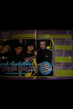 Good Charlotte. tween magazine