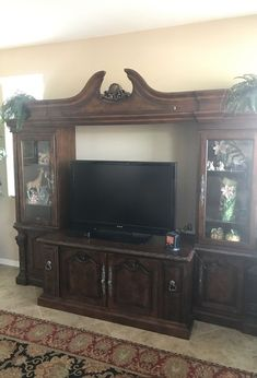 Ashley Casa Mollino Entertainment center for Sale in Sun City, AZ - OfferUp Entertainment Centers For Sale, Entertainment Center Wall Unit, Entertainment Center Decor, Small Apartments, Small Spaces, Kids Curtains, Sun City, Space Images, Media Center