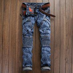 37.43$  Buy now - https://alitems.com/g/1e8d114494b01f4c715516525dc3e8/?i=5&ulp=https%3A%2F%2Fwww.aliexpress.com%2Fitem%2F2016-Vintage-Biker-Jeans-Mens-Brand-Calca-Jeans-Masculina-High-Quality-Skinny-Denim-Overalls-Mens-Pants%2F32692097791.html - 2016 Vintage Biker Jeans Mens Brand Calca Jeans Masculina High Quality Skinny Denim Overalls Mens Pants Brand Clothing Plus Size 37.43$