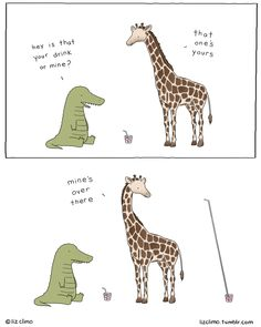 Liz Climo  - cocktail hour! have a fun/safe holiday weekend, everyone.