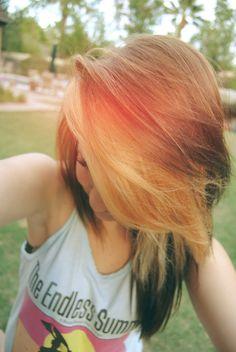 Pretty hair color :D Hair,Hair + Make up,hair, nails and make- up, Love Hair, Gorgeous Hair, Pelo Emo, Afro, Emo Scene Hair, Pretty Hair Color, Alternative Hair, Dye My Hair, Grunge Hair