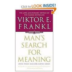 Man's Search for Meaning by Dr Viktor E Frankel is in my view one of the outstanding contributions to psychological thought in the last fifty years. Frankl outlines the principles of logotherapy, and offers ways to help each one of us focus on finding the purpose in our lives.