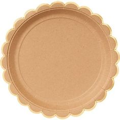 Kraft Plates with Gold Edge