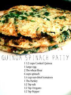 Healthy Quinoa Spinach Patties
