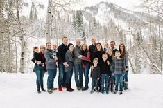 Extended family in the snow - Utah Photography Family Reunion Ali Sumsion Photography Snow Family Pictures, Extended Family Photos, Print Release, Wedding Portraits, Family Photographer, Utah, Portrait Photography, Ali, Photo Ideas