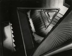 Light Matters: Louis Kahn and the Power of Shadow,Yale University Art Gallery, ca. 1954. Construction view of staircase. Photo © Lionel Feininger. Yale University Art Gallery Archives.