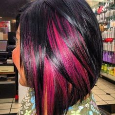 I want this. Black pink and orange hair in my old style ha. So cute