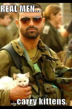 Real men...carry kittens!