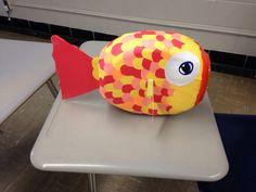 Fish Valentine Box from Tide Pod Container