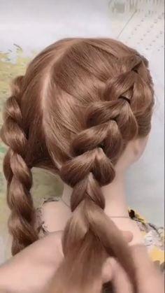 Easy Hairstyles For Long Hair, Braids For Long Hair, Pretty Hairstyles, Box Braids, Simple Hairstyle Video, Easy Braided Hairstyles, Wedding Hairstyles, Braided Buns, Ghana Braids