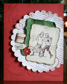 Stampin' Up! Card by Krystal De Leeuw at Krystal's Cards and More: 2011 Christmas Card Crafts, Homemade Christmas Cards, Stampin Up Christmas, Christmas Photo Cards, Christmas Books, Xmas Cards, Kids Christmas, Handmade Christmas, Holiday Cards