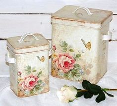 enchanted-barnowlkloof:  lovely old rose  tins