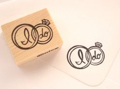Wedding ring Rubber stamp I do Wedding by JapaneseRubberStamps