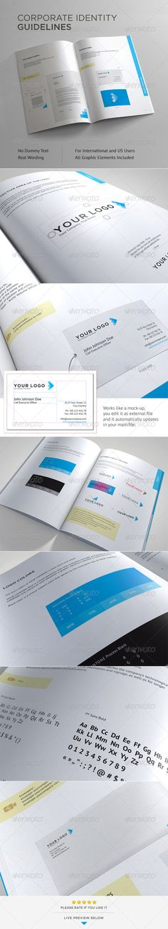 Guide Templates Brand Manual  Brand Manual Brochures And Brochure Template