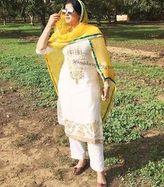 Gur Designer Punjabi Suits Patiala, New Punjabi Suit, Indian Salwar Suit, Indian Designer Suits, Punjabi Dress, Indian Suits, Indian Wear, Boutique Suits, Punjabi Fashion