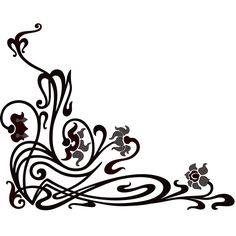 Scroll Corner decorative ornament 1