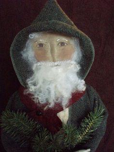 Primitive Folk Art Christmas Santa and Sheep E by cheswickcompany, $6.95