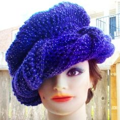 unusual crochet hat patterns | Couture Pattern - Crochet Hat Pattern Turban Hat Scarf PDF DIY Pattern ...