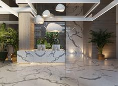 Home Decoration Application Code: 6183554566 Showroom Interior Design, Lobby Interior, Luxury Interior, Hotel Interiors, Office Interiors, Reception Desk Design, Hotel Reception, Hotel Lobby Design, Plafond Design