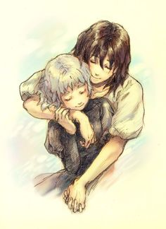 Howl's Moving Castle ♥ but it reminds me of Serendipity and Solomon when they were younger.