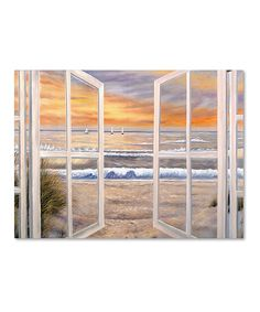 Look at this Joval 'Elongated Window On Canvas' Replica Gallery-Wrapped Canvas on #zulily today!