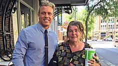 Once a week, Greg Smith meets with Amy Joe, who is homeless, so she can fulfill her dream of learning how to read.
