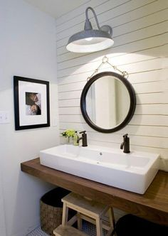 I am looking for a mirror like this and a light similar to this for my bathroom.