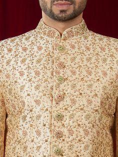 Mens Sherwani and Indowestern Sherwani For Men Wedding, Wedding Dresses Men Indian, Sherwani Groom, Wedding Dress Men, Wedding Men, Pakistani Kurta Designs, Mens Kurta Designs, Dress Suits For Men, Men Dress