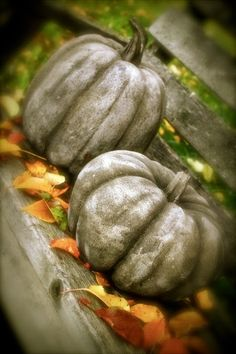 Concrete pumpkins. Hmmm...interesting....