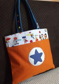 sac bibliothèque (totebag) super héros en coton épais : Sacs enfants par filozofee