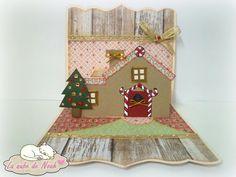 ♥ Tarjeta Casa de Galleta 3D. http://lanubedenoah.blogspot.com.es/2015/12/tarjeta-casa-de-galleta-3d.html