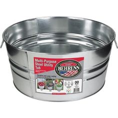 Behrens 1GS 11 Gallon Round Galvanized Steel Tub Size 11 Gallon Round Outdoor Home Garden Supply Maintenance -- Continue to the product at the image link.