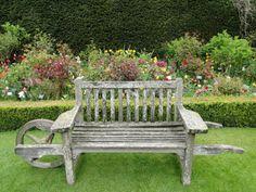 """wallacegardens: """" Wheelbarrow bench, Abbey House Gardens, Malmesbury, Wiltshire. """""""