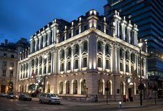 Sofitel London, St James by Studio 29 Urban Architecture, Classic Architecture, Commercial Architecture, Beautiful Architecture, Exterior Wall Design, Facade Design, Facade Lighting, Exterior Lighting, Classic House Exterior