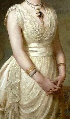 Elizabeth- Beatrice, Lady Seaton by Edwin Long, 1884