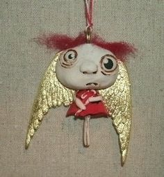 Red Headed ANGEL by papermoongallery on Etsy, $15.00
