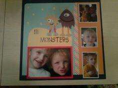 scrapbook layout little monsters