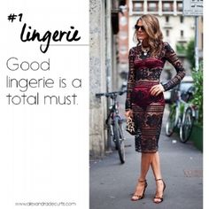 HOW TO DRESS LIKE AN ITALIAN WOMAN || RULE #1 Good lingerie is a total must. @alexandradecurtis